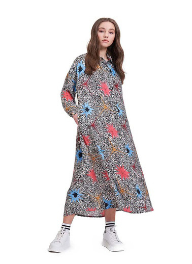 Mizalle Youth Elbise Renkli